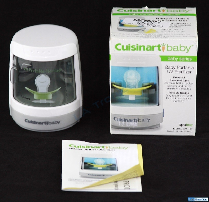 Cuisinart-Baby Series Portable UV Pacifier/Bottle Nipple Sterilizer CPS-100 Image 1